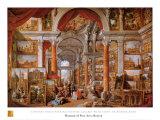 Galerie de vues de la Rome Moderne Poster par Giovanni Paolo Pannini