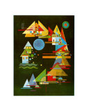 Points in the Elbow Poster von Wassily Kandinsky