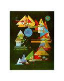 Spitzen In Bogen, c.1927 Posters van Wassily Kandinsky
