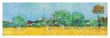 View of Arles with Irises (detail) Poster af Vincent van Gogh