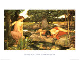 Echo and Narcissus, c.1903 Plakater af John William Waterhouse