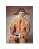 Harlequin W/folded Hands Kunstdruck von Pablo Picasso