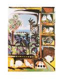 Les pigeons Affiche par Pablo Picasso