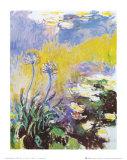 Los agapantos Láminas por Claude Monet