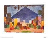 Ägyptische Nacht Poster von Paul Klee