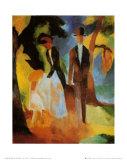 Leute am Blauen See Prints by Auguste Macke
