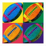 Quatre ballons de football américain Affiches par Hugo Wild