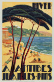 Antibes in Winter, c.1930 Posters by Bernard de Guinhald