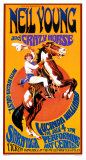 Neil Young and Crazy Horse in Concert Print by Bob Masse