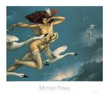 Night Flight Plakat af Michael Parkes