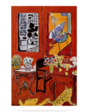 Grande interno rosso, 1948 Stampe di Henri Matisse