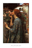 The Soul of the Rose, 1908 Plakat af John William Waterhouse