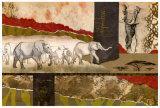 Elefantes del Serengeti Láminas por Joseph Poirier