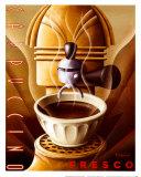 Fresko mit Cappuccino Poster von Michael L. Kungl