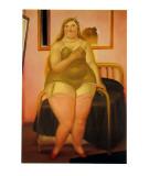 La Cama II Poster av Fernando Botero