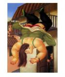Über den Balkon Kunstdrucke von Fernando Botero