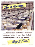 WWII, This Is America Stampa giclée
