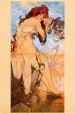 Verão Posters por Alphonse Mucha