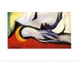 Gerustgesteld Poster van Pablo Picasso