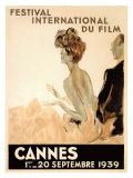 Internationaal filmfestival Cannes, 1939 Gicléedruk van Jean-Gabriel Domergue