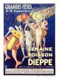 Semaine du Poisson de Dieppe Giclée-tryk af Rene Jeandot