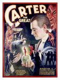 Carter the Great, Shooting a Marked Bullet Lámina giclée