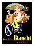Bianchi-Fahrräder Giclée-Druck von  Mich (Michel Liebeaux)