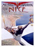 Meeting d'Aviation, Nice, 1910 Giclee Print by Charles Leonce Brosse