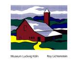 Red Barn II, 1969 Serigrafi (silketryk) af Roy Lichtenstein