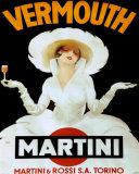 Vermouth, Martini Rossi Torino Print van Marcello Dudovich
