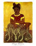 Vendedora De Pinas Prints by Diego Rivera