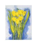 Yellow Tulips Prints by Witka Kova