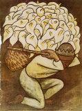 El Vendedora De Alcatraces Print by Diego Rivera