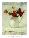 Arrangement in Weiß I Poster von Deborah Chabrian