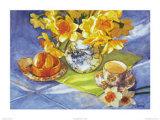 Daffodils & Orange Poster von Deborah Chabrian