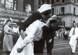 Kuss zum Kriegsende Poster von Victor Jorgensen