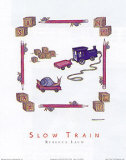 Slow Train Posters by Rebecca Lach