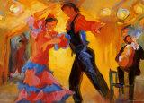 La coppia di ballerini di flamenco Stampe di Sharon Carson