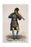 Street Violinist Giclée-Druck von Antoine Charles Horace Vernet