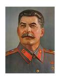 Portrait of Joseph Stalin Reproduction procédé giclée