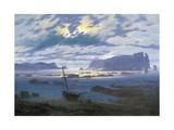 North Sea in Moonlight Giclée-tryk af Caspar David Friedrich