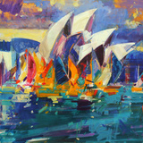Sydney Flying Colours, 2012 Stampa giclée di Peter Graham