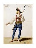 Costume Sketch Giclee Print by Hippolyte Lecomte
