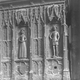 Figures on a Tomb at Westminster Abbey, London Photographic Print by Frederick Henry Evans