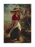 Working Woman Giclee Print by Johann Baptist Reiter