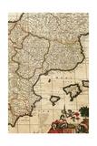 Spain, Detail, Atlas Reproduction procédé giclée par Frederick de Wit