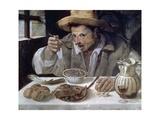 The Bean Eater, 1584-85 Giclée-tryk af Annibale Carracci