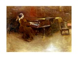 At the Piano, 1894 Gicléedruk van John Alexander