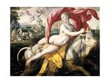 Rape of Europa, 1572 Giclée-Druck von Maarten de Vos