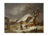 Snow in the Farmyard, 1812 Giclee Print by Joseph Rhodes
